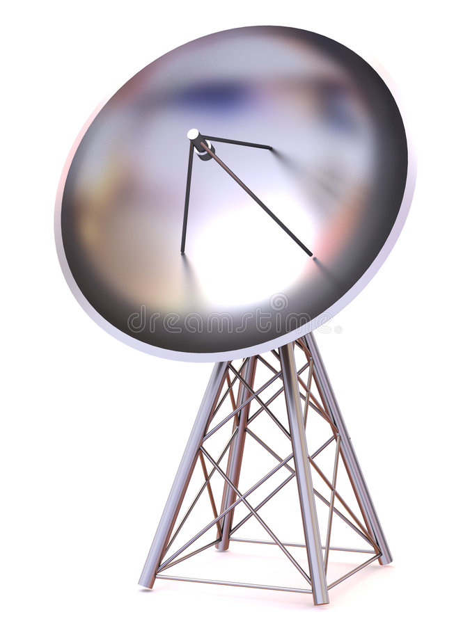 satellit 3d stock illustrationer