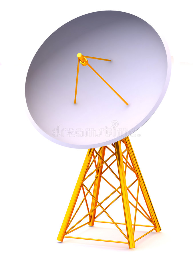 satellit stock illustrationer