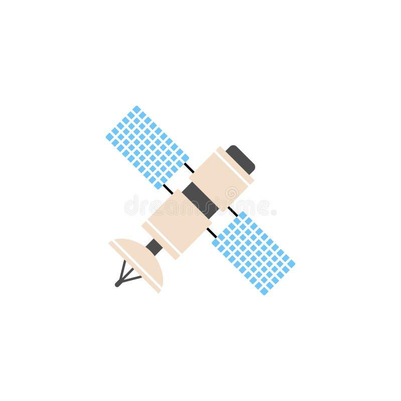Satellit- fast symbol, navigering och kommunikation royaltyfri illustrationer