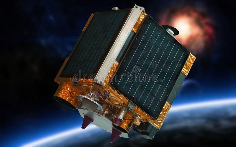 Satellit i avstånd royaltyfria bilder