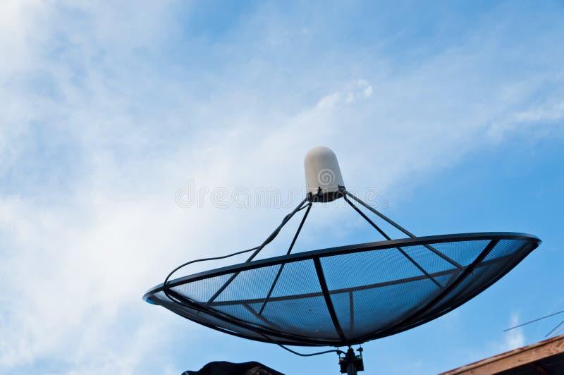 Satellit- maträtt fotografering för bildbyråer