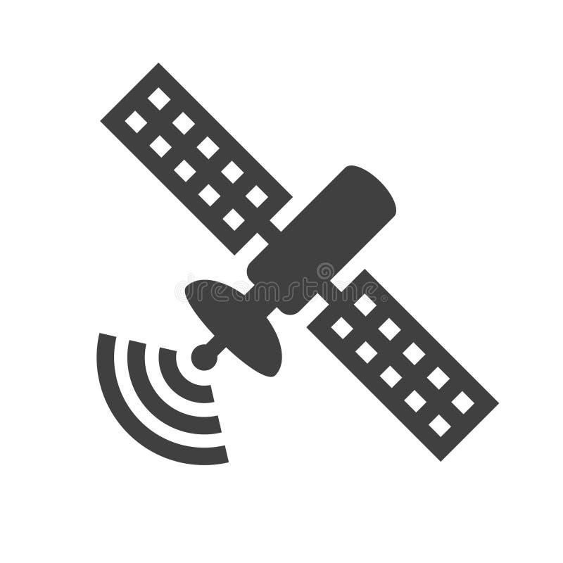 Satellit- symbol royaltyfri illustrationer