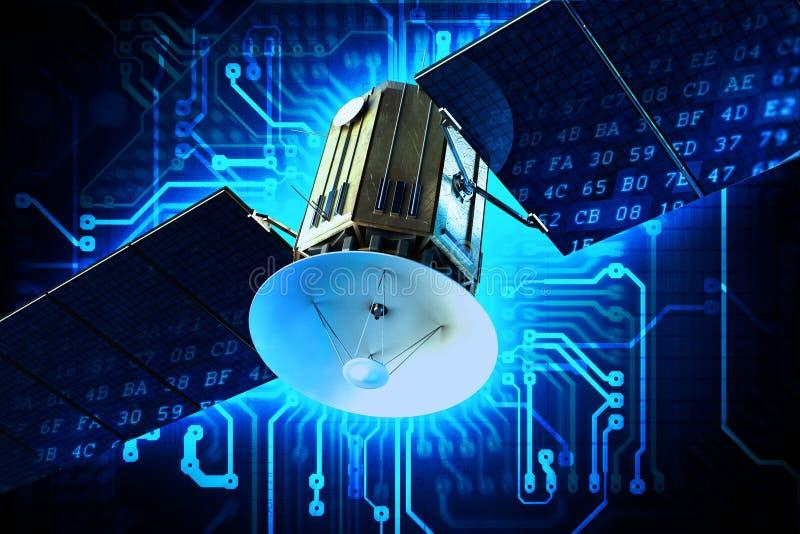 Satellit- teknologi royaltyfri illustrationer