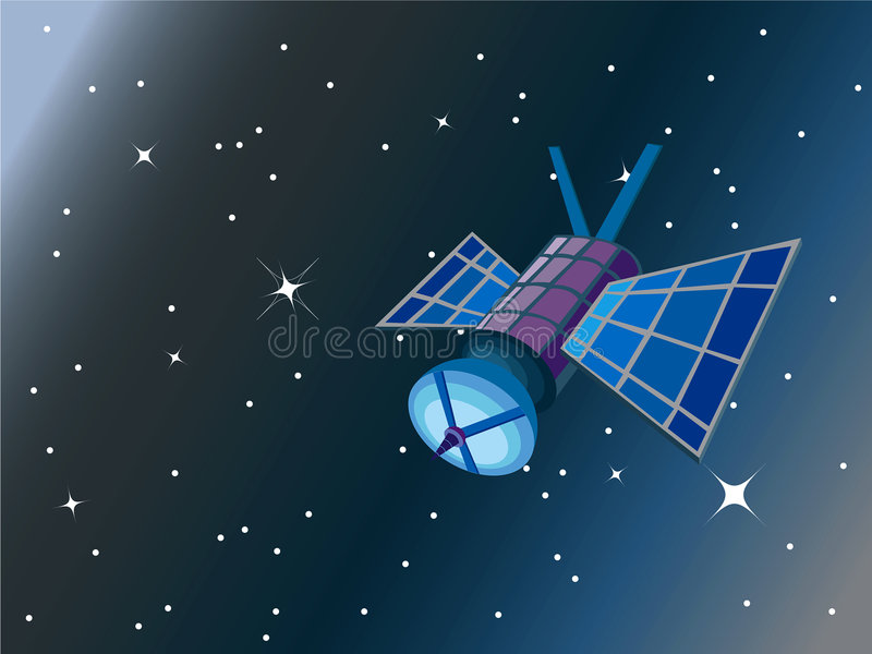 satellitavstånd stock illustrationer