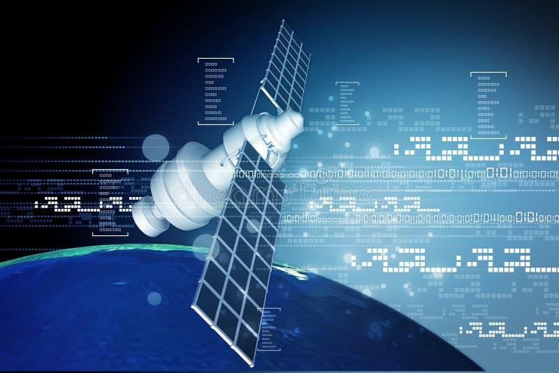 Satellite à l'orbite terrestre illustration de vecteur