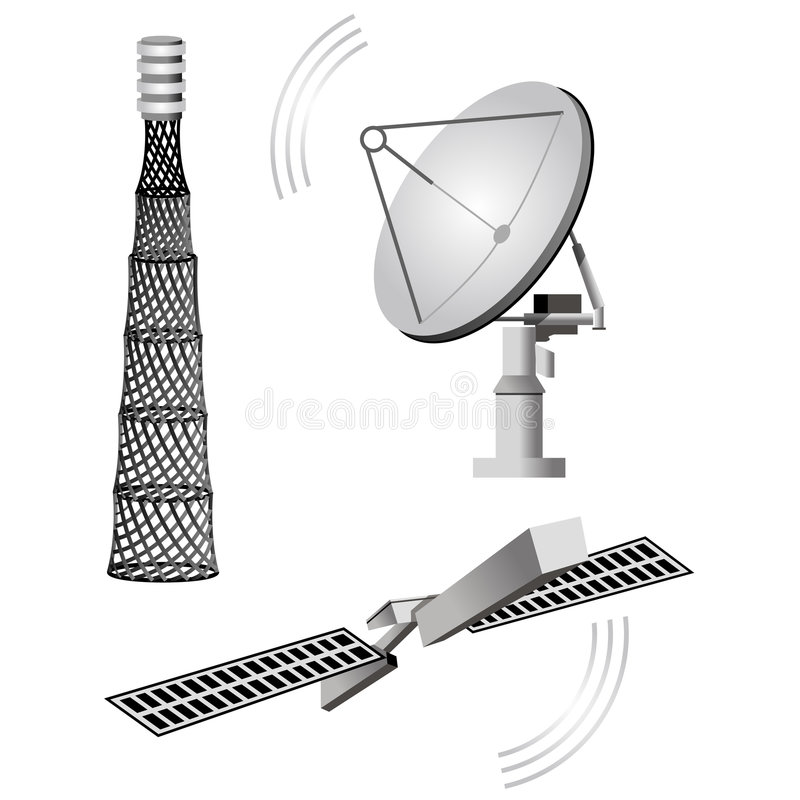 Satellite royalty free illustration