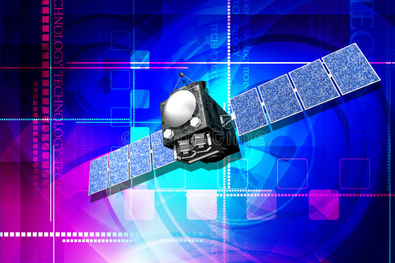 Download Satellite stock illustration. Image of technology, colour - 25914456