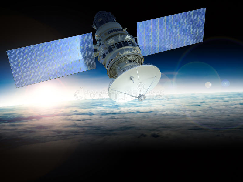 satellite fotografia stock