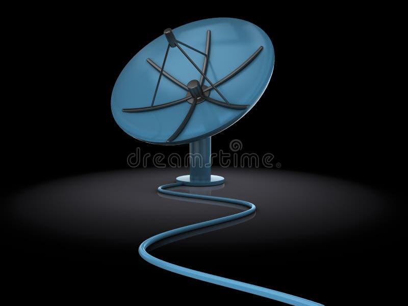 Satellite antenna royalty free illustration