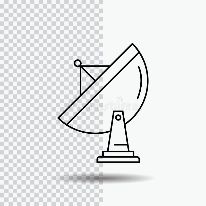 Satellite Antenna Radar Space Dish Logo Design Blue