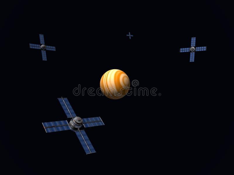 Download Satellite Array stock illustration. Illustration of idea - 583411