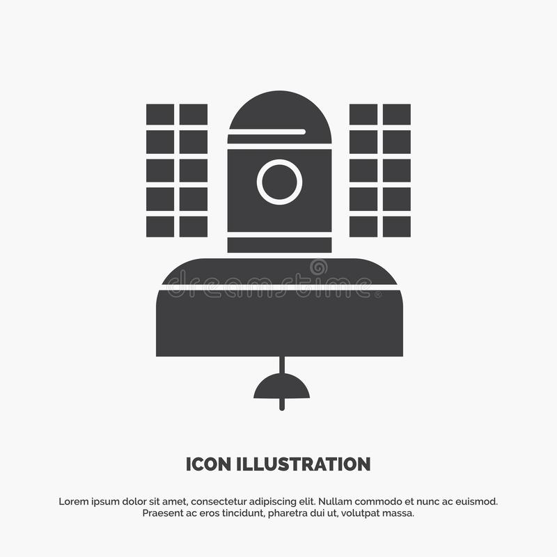 Satellite, broadcast, broadcasting, communication, telecommunication Icon. glyph vector gray symbol for UI and UX, website or. Mobile application. Vector EPS10 stock illustration