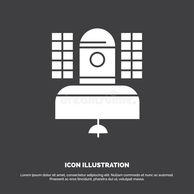 Satellite, broadcast, broadcasting, communication, telecommunication Icon. glyph vector symbol for UI and UX, website or mobile. Application. Vector EPS10 vector illustration
