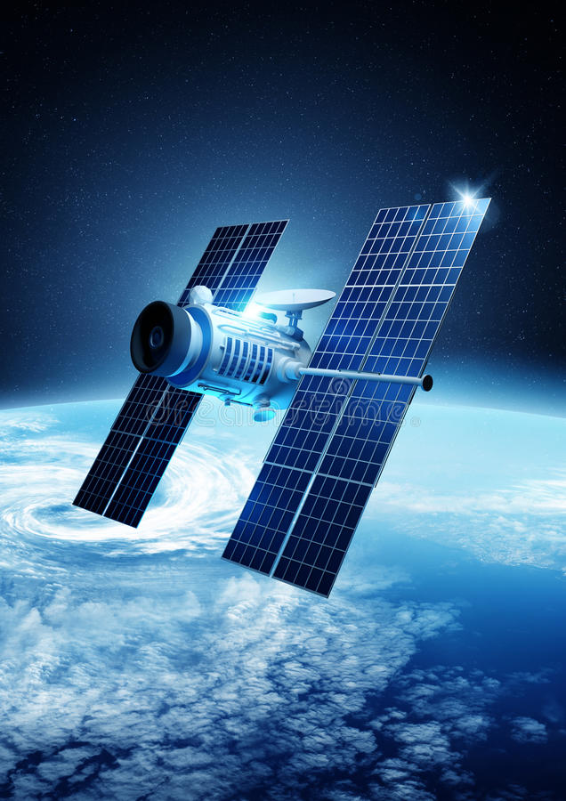 Satellite Communications royalty free illustration