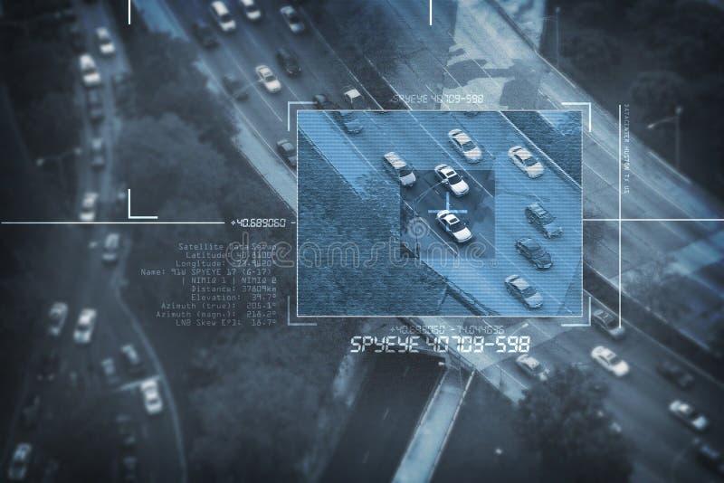 Satellite d'espion photo libre de droits