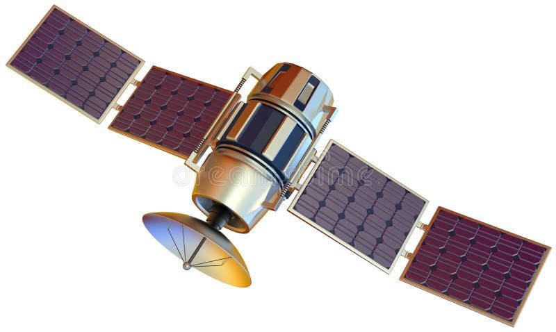 Satellite. 3D model of an artificial satellite stock photos