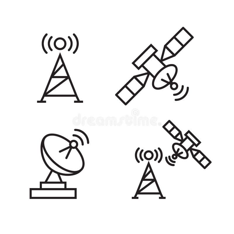 Satellite de télécommunications d'orbite illustration stock