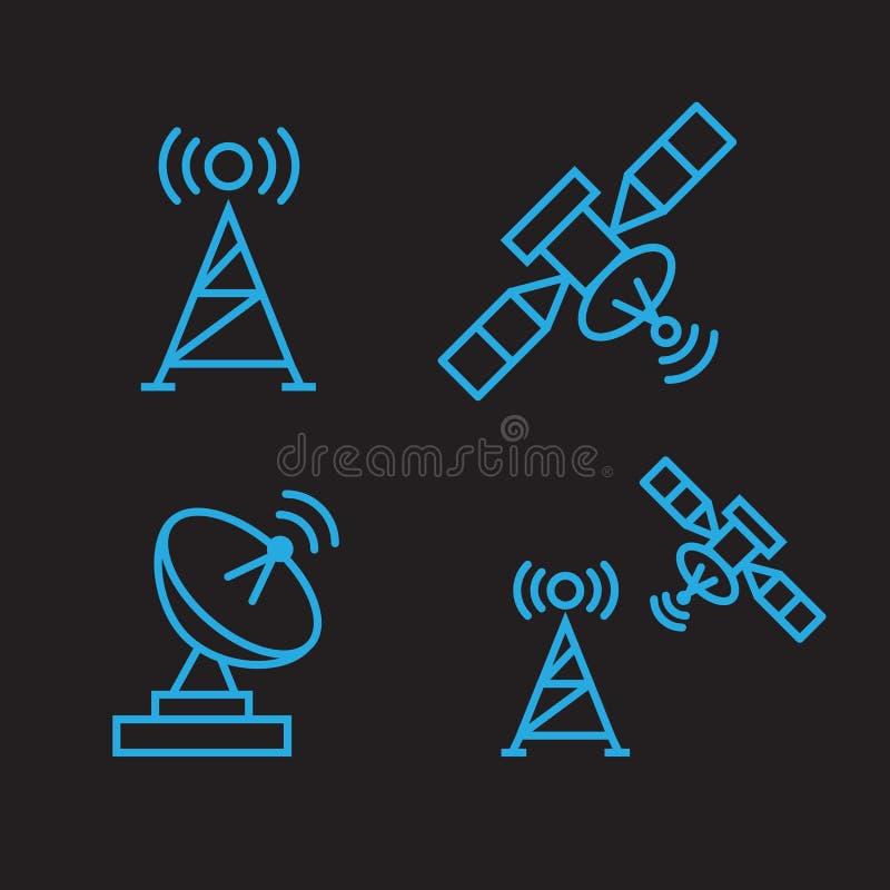 Satellite de télécommunications d'orbite illustration libre de droits