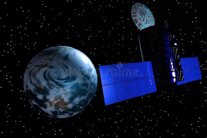 Satellite de terre illustration de vecteur