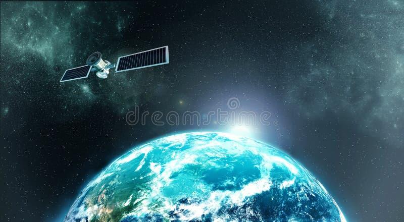 Satellite de terre images libres de droits