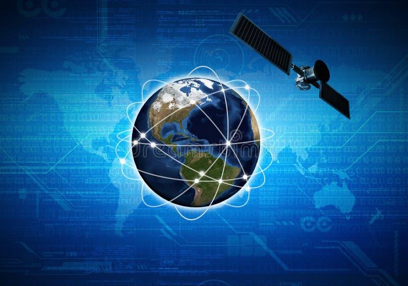 Satellite di Internet fotografie stock libere da diritti