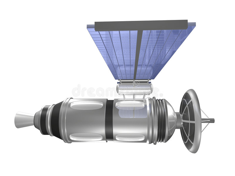 Satellite di vista laterale illustrazione di stock