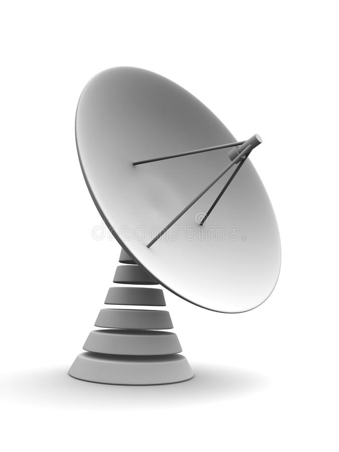 Satellite dish stock illustration