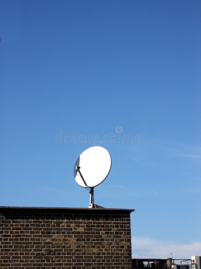Download Satellite dish stock image. Image of receiver, blue, building - 113489