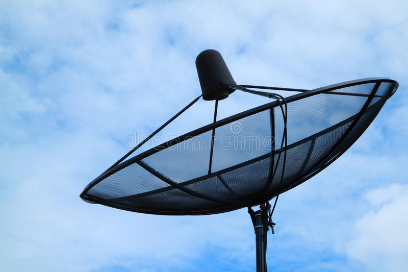 Download Satellite dish stock image. Image of blue, digital, connected - 20545627