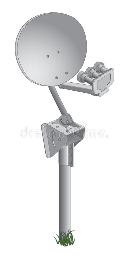 Download Satellite Dish stock vector. Image of metallic, high - 22835649