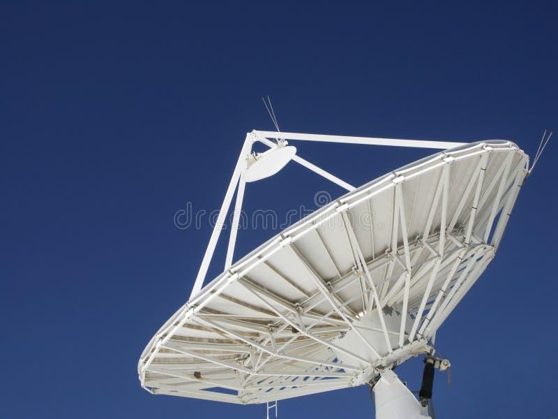 Satellite Dish. Against blue sky