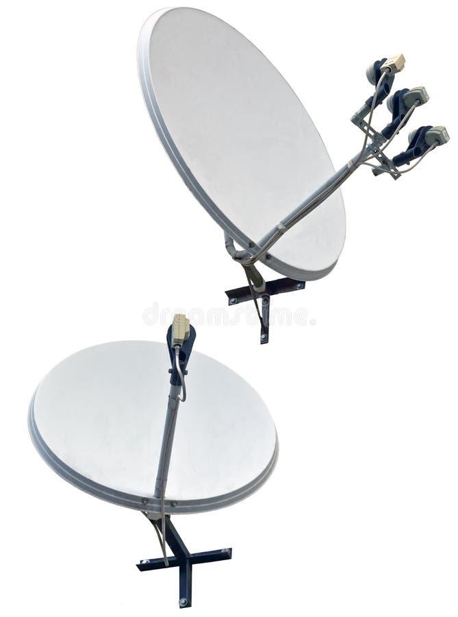 Satellite dish antenna. Isolated on white background stock photo