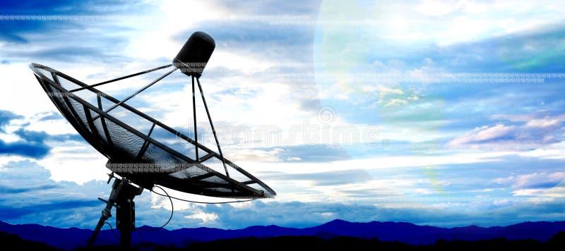 Satellite dish. Antennas on sky stock photography