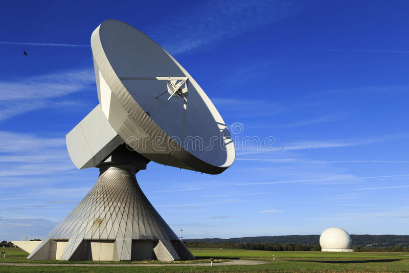 Satellite dish. A satellite dish in Bavaria Germany royalty free stock photography