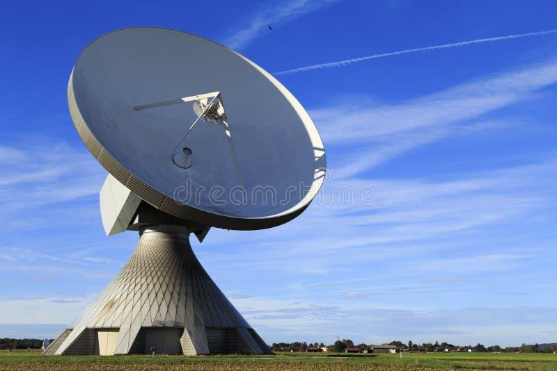 Satellite dish. A satellite dish in Bavaria Germany royalty free stock photos