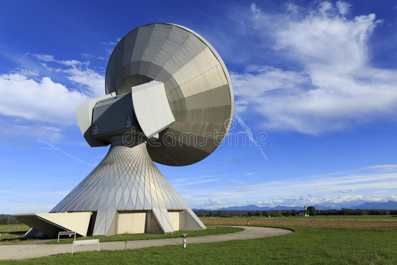 Satellite dish. A satellite dish in Bavaria Germany royalty free stock images
