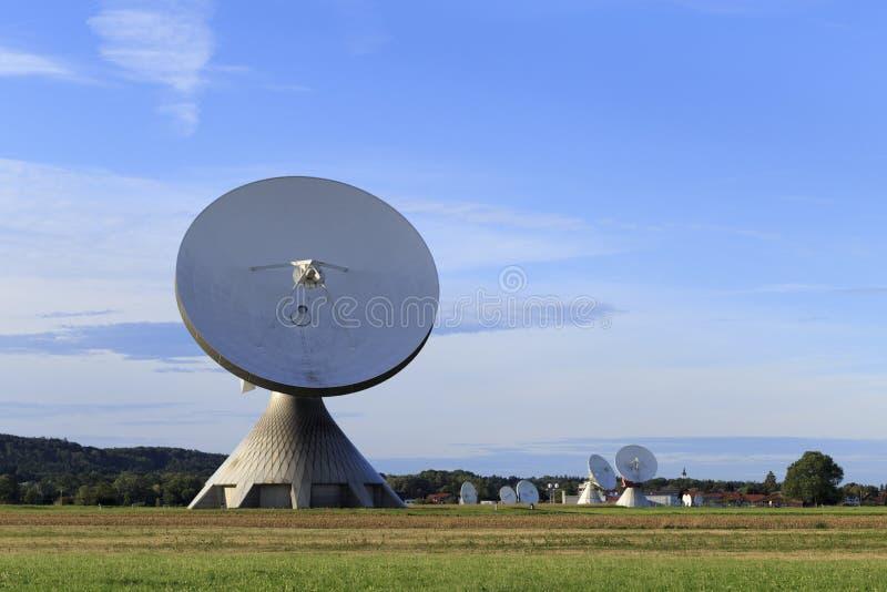 Satellite dish. A satellite dish in Bavaria Germany stock images