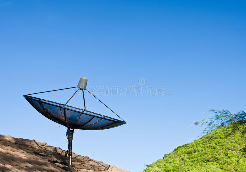 Download Satellite dish black stock photo. Image of electronic - 25304588