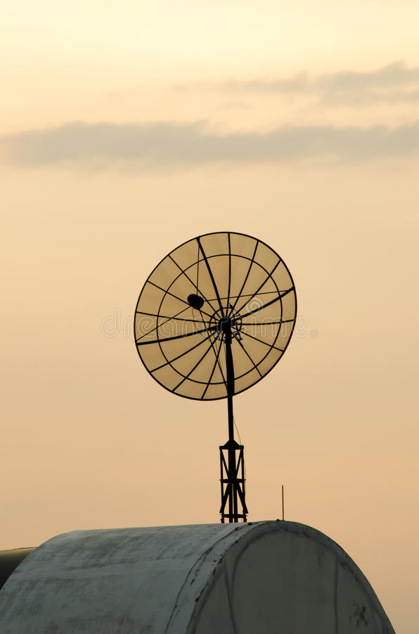Download Satellite Dish On Building Roof Stock Photo - Image: 31633260