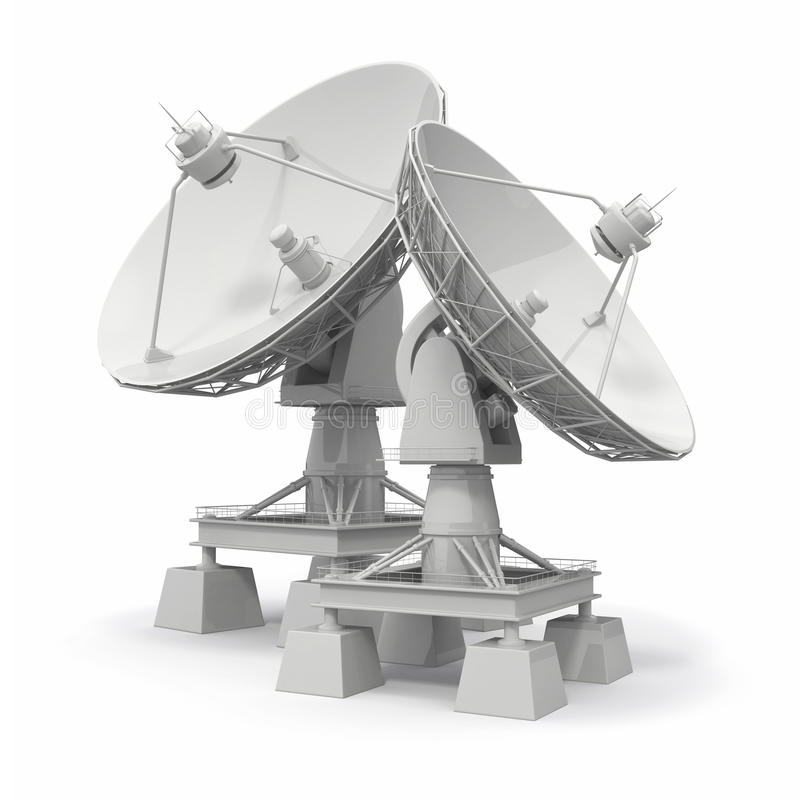 Satellite dish. Communiation. royalty free illustration