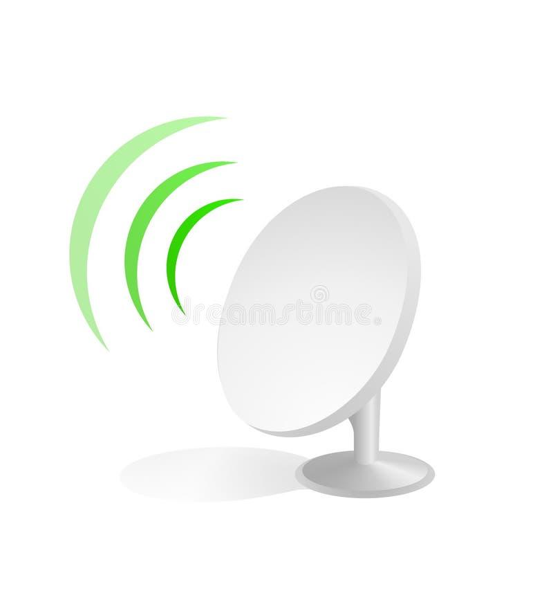 Satellite dish icon vector illustration