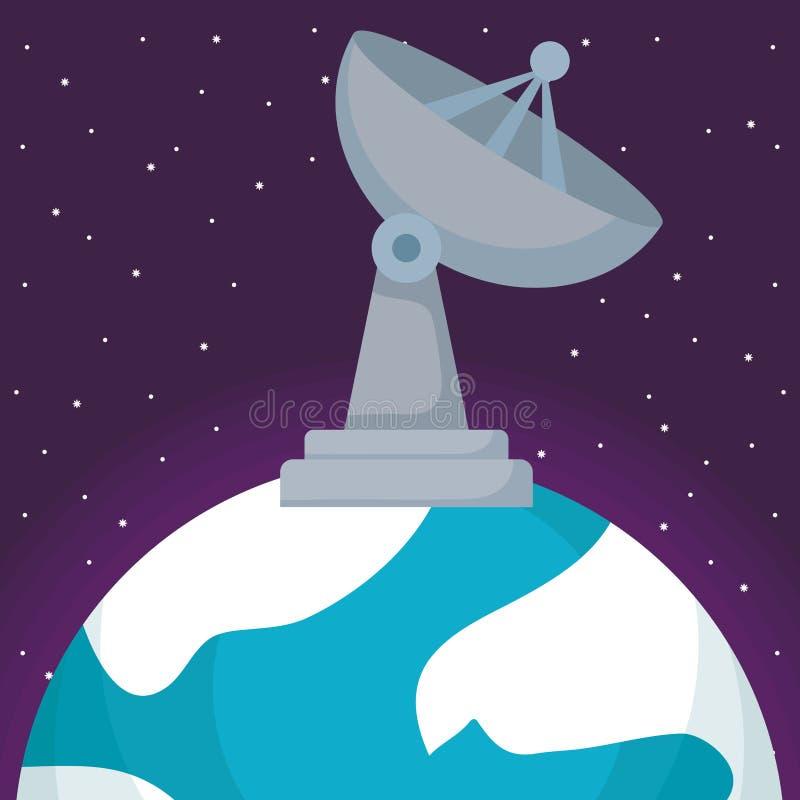 Satellite dish icon royalty free illustration