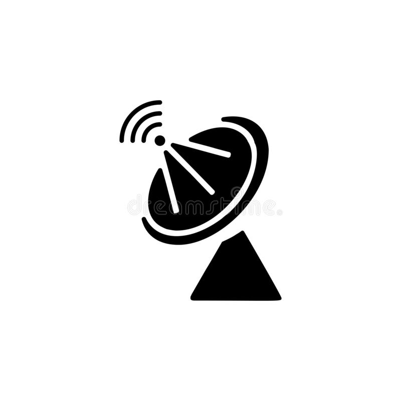 Satellite dish icon. Simple glyph, flat  of Technology icons for UI and UX, website or mobile application. On white background royalty free illustration