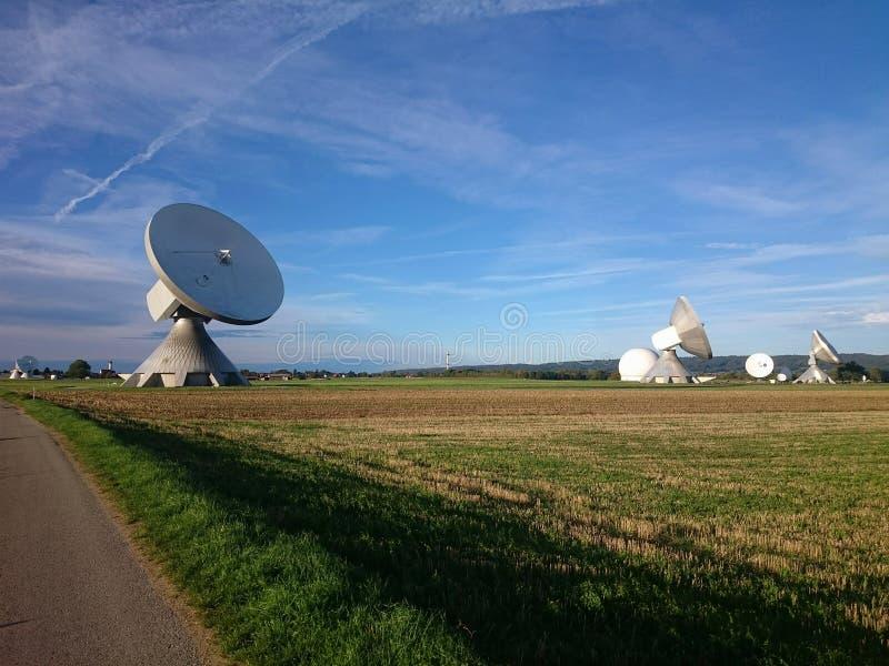 Satellite Dish. A satellite dish in Raisting Germany royalty free stock photography