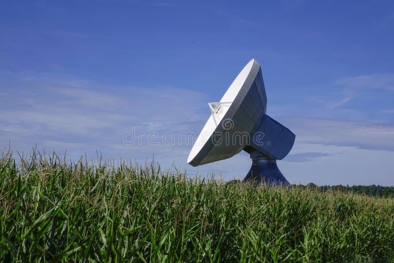 Satellite dish, Raisting Satellite Earth Station. Ground station, satellite communications, Upper Bavaria, Germany, Europe royalty free stock photos