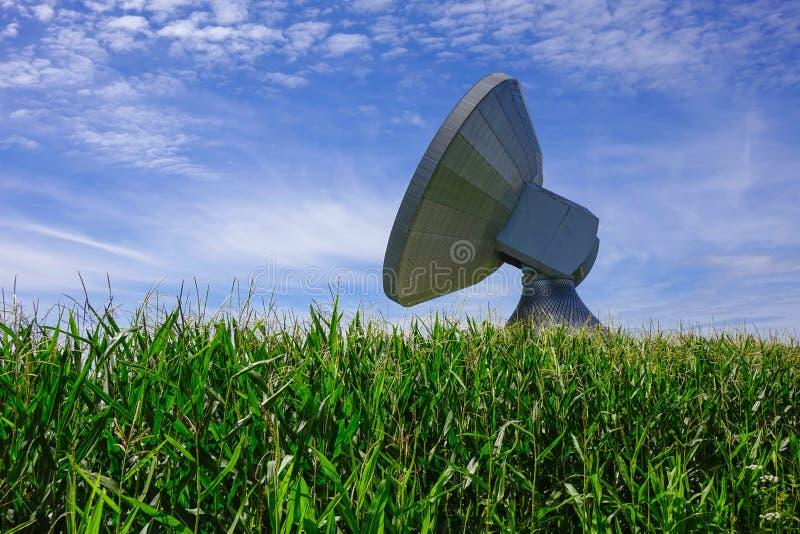 Satellite dish, Raisting Satellite Earth Station. Ground station, satellite communications, Upper Bavaria, Germany, Europe royalty free stock images