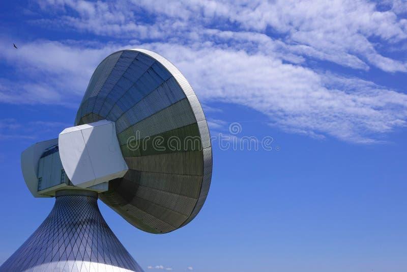 Satellite dish, Raisting Satellite Earth Station. Ground station, satellite communications, Upper Bavaria, Germany, Europe stock photo