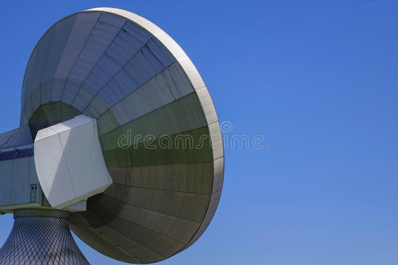 Satellite dish, Raisting Satellite Earth Station. Ground station, satellite communications, Upper Bavaria, Germany, Europe stock photos
