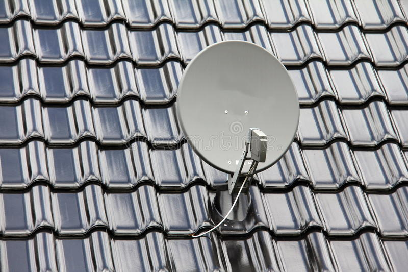 Download Satellite dish on the roof stock image. Image of cable - 27484559