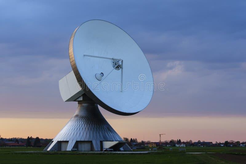 Satellite Dish. An Satellite dish in the sunset stock image